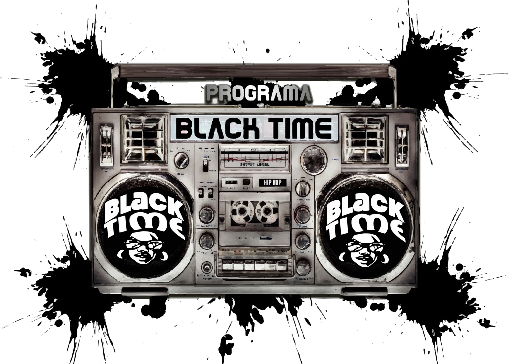 Programa Black time co radio PNg fundo transparente